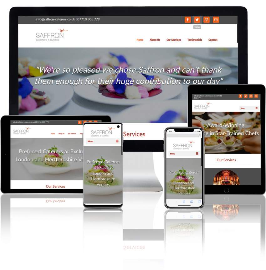 Catering and Events WordPress Website