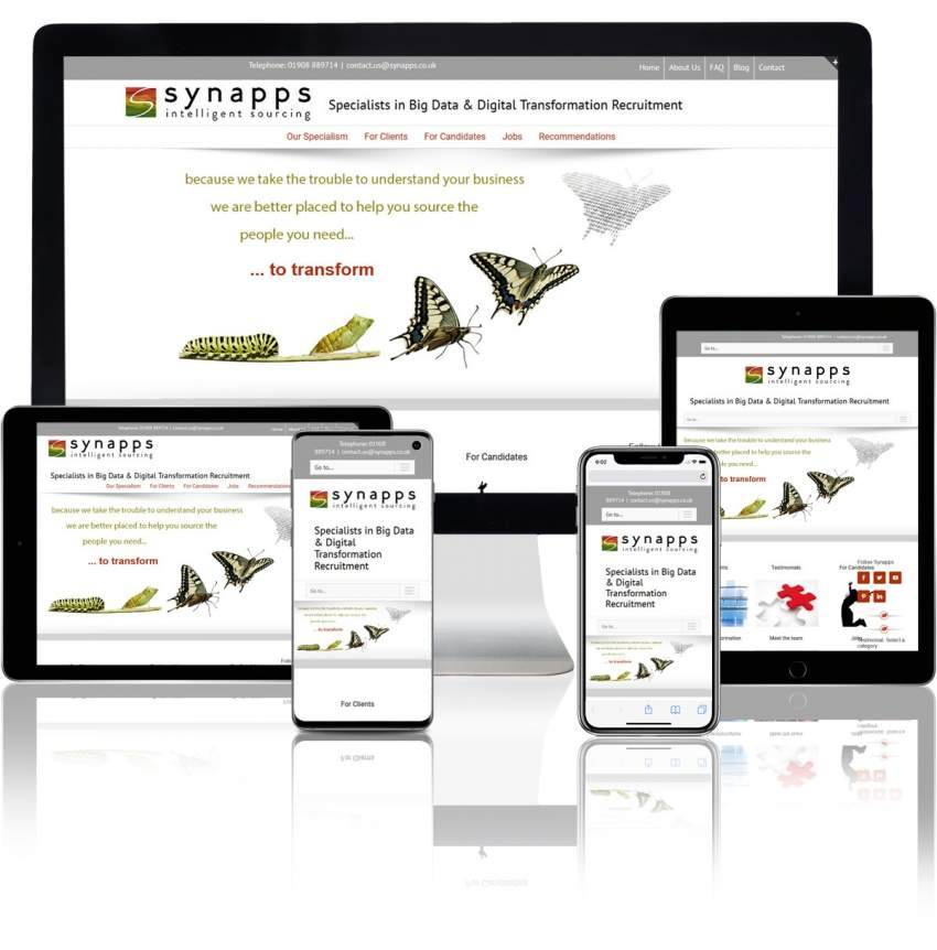synapps tech recruitment agency website