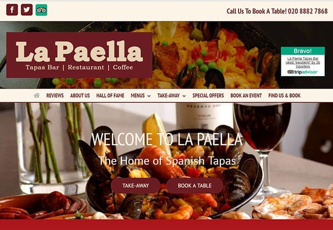 Restaurant website design and build wordpress we get
