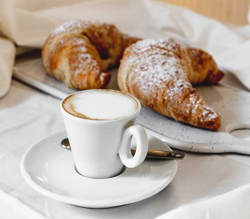 website planning starts with coffee and croissants